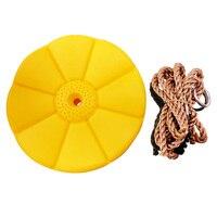 Sarı Disk Salıncak naylon halat Salıncak Seti Aksesuarları|Avlu Salıncakları|Mobilya -