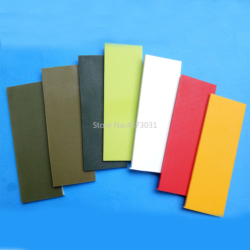 2Pieces Fine Lines Multicolor Color Diy Knife Handle Material Glass Fibre G10 Handmade Material Patch Material