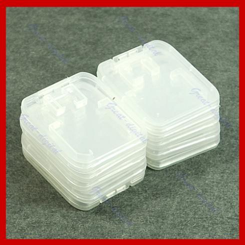 10pcs TF Micro SD SDHC Memory Card Plastic Case White