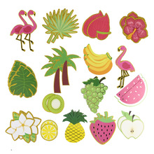 Sunbeauty DIY Flamingo Letter Banner Summer and Pineapple Party Favors Hawaiian Decorations