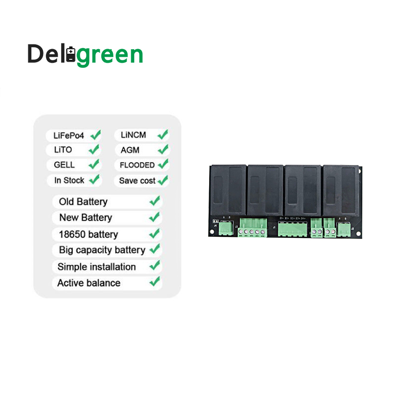 Image 3 - QNBBM 4S 12V Lithium Battery Equalizer Balancer BMS for Li ion LiFePO4 LTO LiNCM LMO 18650 DIY Pack ProtectionBattery Accessories   - AliExpress
