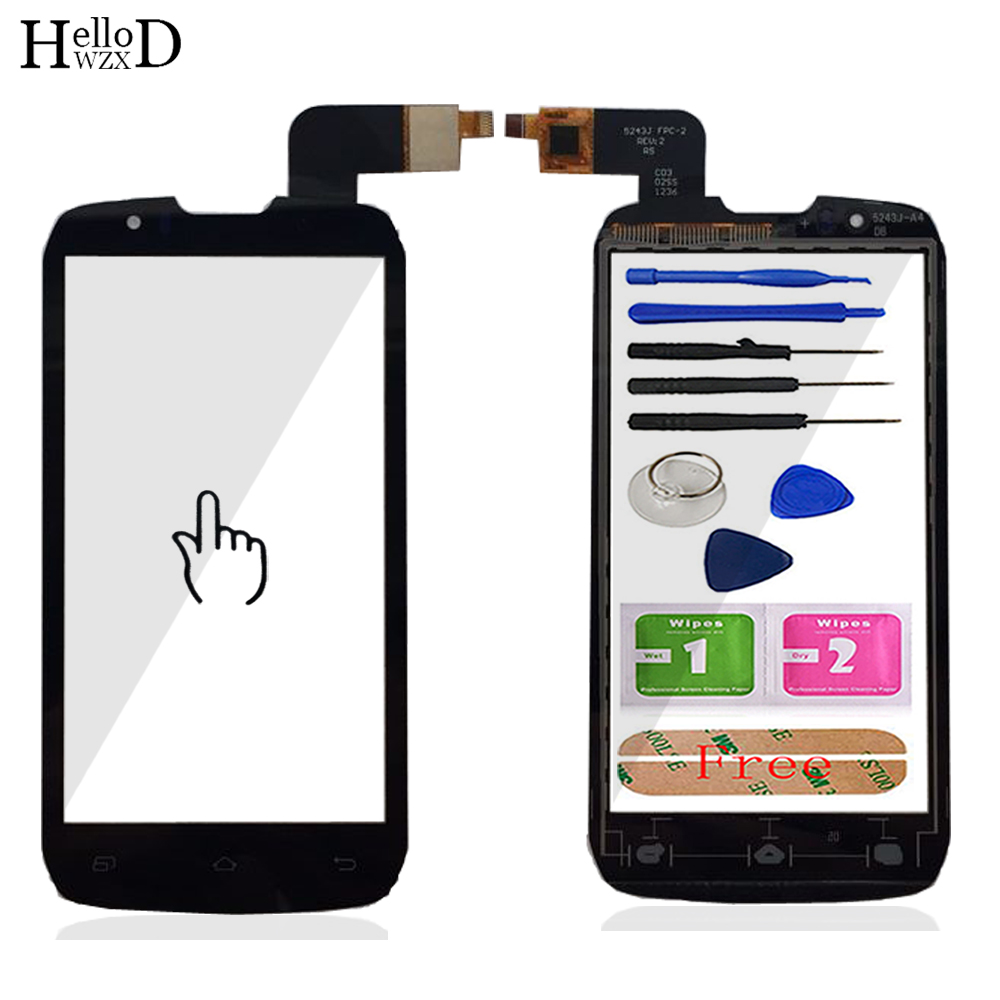 Moible Phone Touch Screen For Highscreen Boost <font><b>DNS</b></font> <font><b>S4502</b></font> S4502M Touch Digitizer Panel Front Glass Repair Sensor Tools + Adhesive image