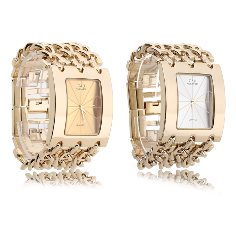 50pcs/lot Wholesale G&D Wristwatch Women Watch Quartz Watch Gold Relogio Feminino Saat Women Dress Clock Female Reloj Mujer