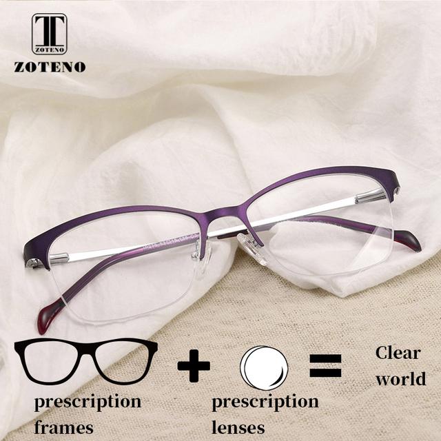 Semi-rim Prescription Eyeglasses Women Progressive Photochromic Anti Blue Light Reading Computer Optical Clear Spectacles #276