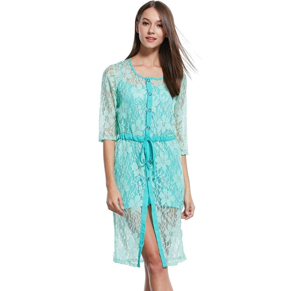 MSANI New Fashion Womens shirt dress Wear Party Beach Lace Dress ...