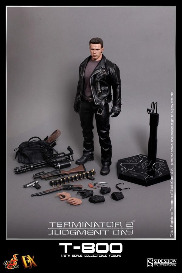 Free shipping hot toys ht dx10 terminator arnold 1/6 t800 collectible action...
