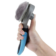 Useful Pet Dog Cat Hair Removal Brush One-click Stainless Steel Pin Grooming Tools Shedding Trimmer Comb