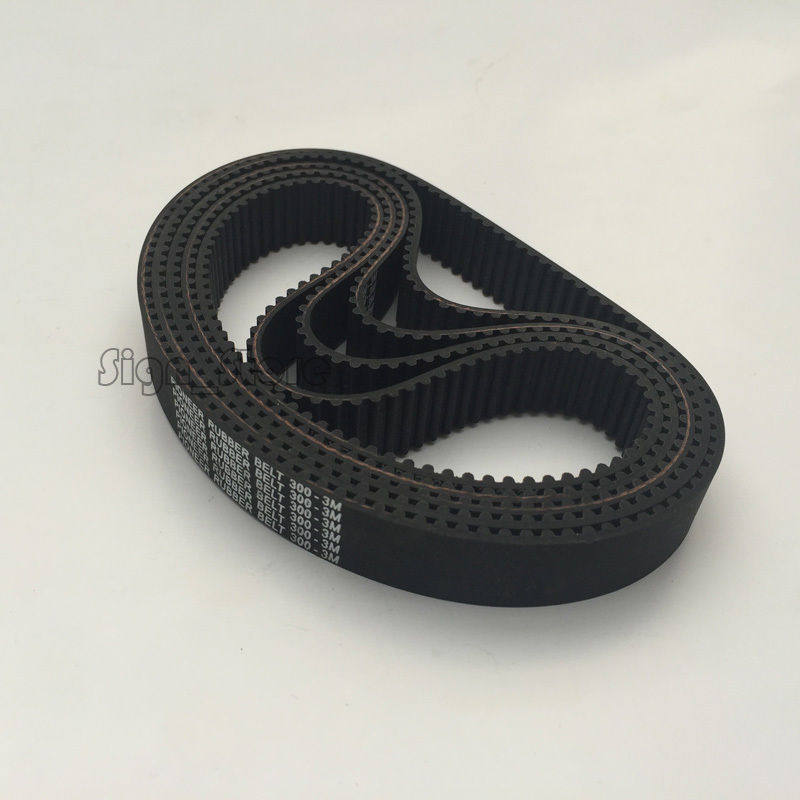 1pc HTD 3M Timing Belt 300 3M 15 Teeth 100 Width 15mm Length 300mm HTD300-3M-15 For Co2 CNC Laser Engraver Cutter