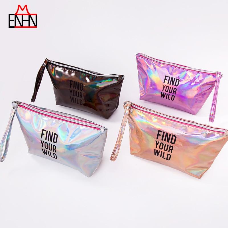 Frank Enhnm Mode Frauen Bunte Kupplung Make-up Tasche Shiny Kosmetik Tasche Holographische Hologramm Laser Quaste Pu Tasche Einen Effekt In Richtung Klare Sicht Erzeugen