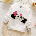 4pcs Retail 2016 fashion spring kids casual clothes baby tees top girls cartoon minnie mouse cotton soft long sleeve t shirts