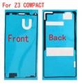 Frente + back quadro adesivo adesivo pegajoso cola de fita para sony xperia z3 compact mini d5803 d5833 m55w