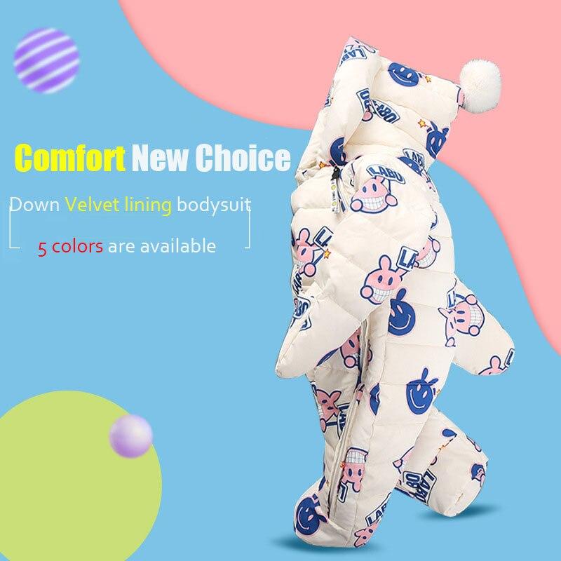 Body en duvet de canard pour bébé et une pièce avec tenue d'hiver en velours pour bébé