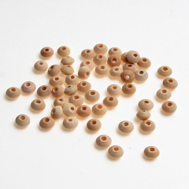 8x5mm Perles En Bois Naturel 100 pièces Résultats De Bijoux pour Enfant Sucette Clip Entretoise Perles Perles De Bois