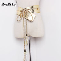 RealShe 2017 Women S Strap Casual All Match Women Brief PU Belt Women Strap Pure Color