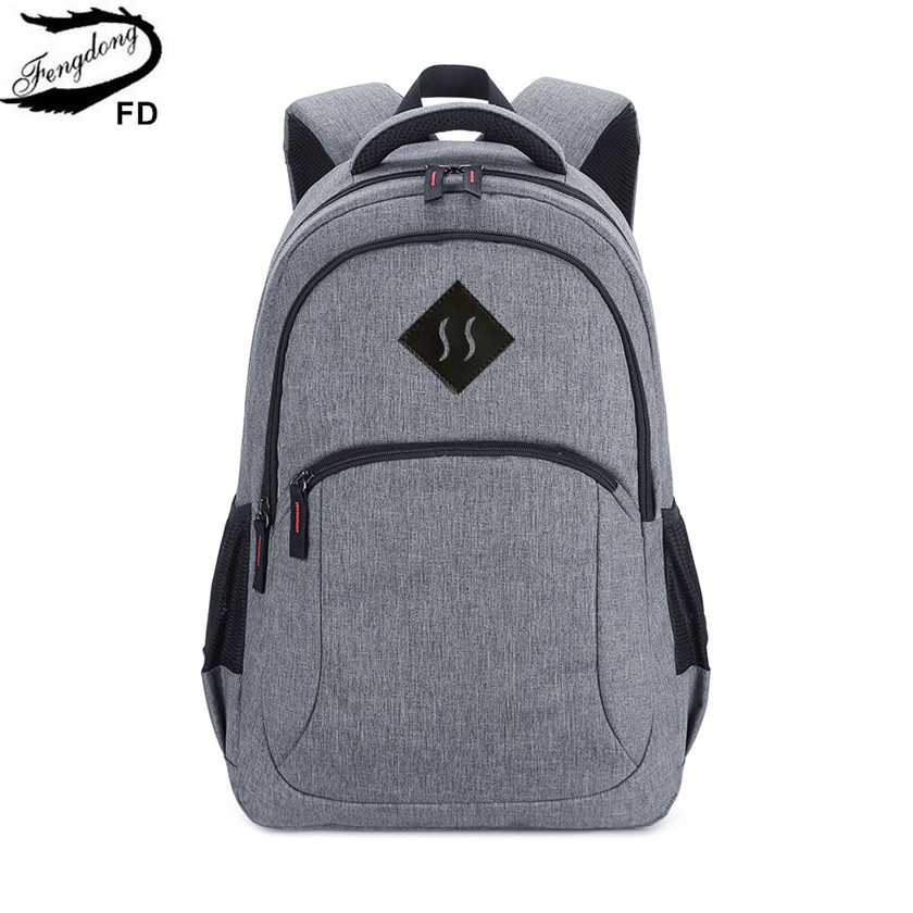 FengDong grey high school backpack for boy schoolbag men school bag college bags male travel backpack student laptop bag 15.6 летние шины triangle 185 65 r14 86h te301