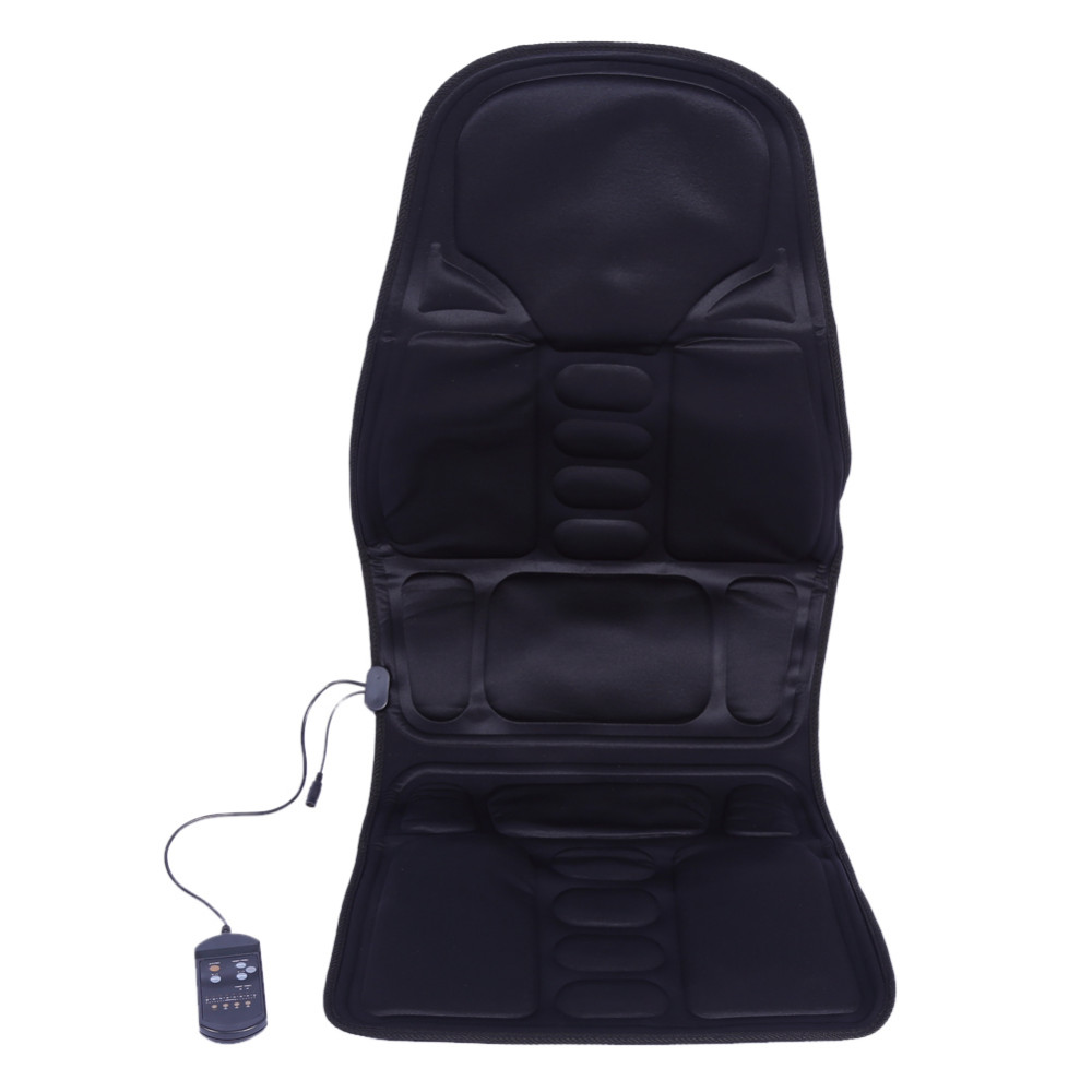Electric Massage Cushion Car Seat Vibrator Back Massage Relaxation Heat Pad Back Waist Body Massageador Pain Relief Bed Mattress image