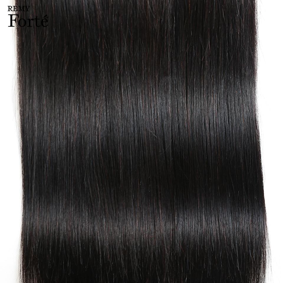 HTB1Egr7QhTpK1RjSZFKq6y2wXXa7 Remy Forte Straight Hair Bundles With Closure Non Remy 8-30 Inch Hair Brazilian Hair Weave Bundles 3/4 Bundles With Closure