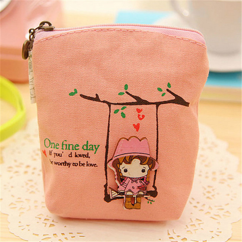 Coin Purses For Child Swing Girl Women Small Card Holder Wallets Canvas Portable Key Pouch Wallet Bag For Coins Porte Monnaie 2016 coin bag creative flower women coin purses fresh syle key wallets canvas girls child gift wallets small purse b0234