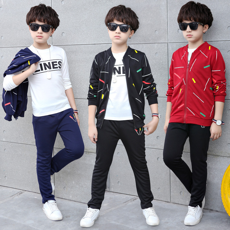 Boys Clothes Autumn Boys Sport suit Children Clothing Set Kids Tracksuit for Boys 3pcs Casual suit Teenager 3-14 T Kids Clothes kids hip hop clothing autumn new boys kids suit children tracksuit boys long shirt pants sweatshirt casual clothes 2 color
