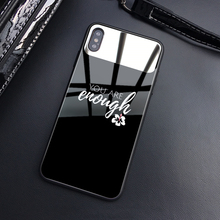ciciber Luxury Clear Makeup Mirror Phone Case for iPhone 7 8 6 6S Plus Back Shell X XR XS Max Tempered Glass Fundas