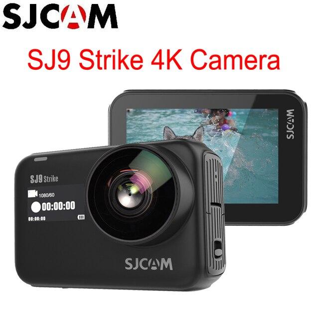 Stokta var! SJCAM SJ9 Strike Gyro/EIS Supersmooth 4K 60FPS WiFi uzaktan eylem kamera kablosuz şarj canlı akış kamera