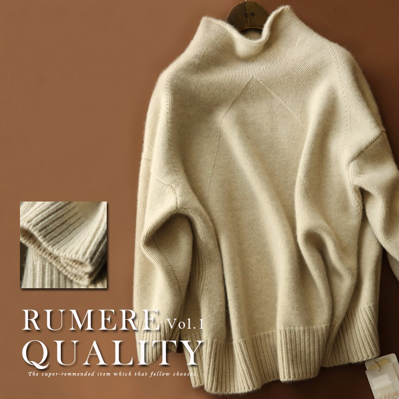Korean Version Of The New Double-Thick Loose High-Necked Cashmere Sweater Women's Cashmere Pullover Sweater Sweater Jacket