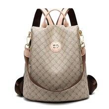 2019 New Women Backpack High Quality Youth Leather Backpacks for Teenage Girls Female School Shoulder Bag Luxury Bagpack mochila