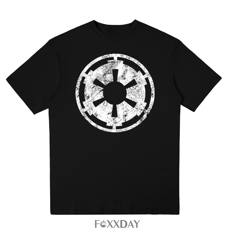 Brand Summer t shirt Men 100% cotton Casual Star Wars mens T-Shirts The Galactic Empire Printed Tee Shirt Short Sleeve Tops