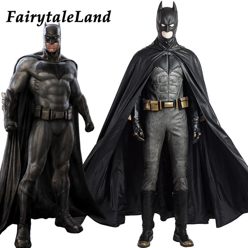 Justice League Batman cosplay Costume Superhero Halloween costumes for adult custom made cosplay Batman Costume leather