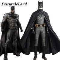 Лига Справедливости Бэтмен косплей костюм супергерой Хэллоуин костюмы для взрослых на заказ косплей костюм Бэтмен кожаный костюм