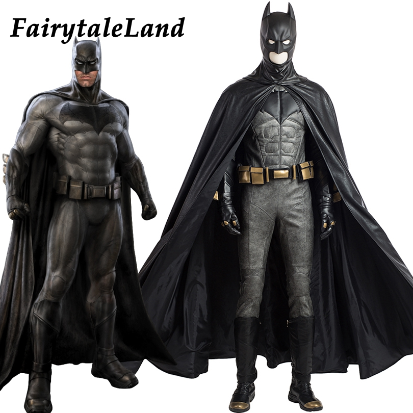 Justice League Batman cosplay Costume de Super Héros Halloween costumes pour adulte custom made cosplay Batman Costume en cuir costume