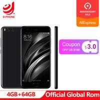 Global Rom 5.15 Xiaomi Mi 6 Mi6 4GB RAM 64GB ROM 1080p Snapdragon 835 4G TD LTE smartphone dual camera 12.0MP OTA 3350mAh