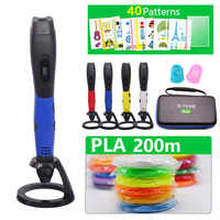 New Arrival 3D Pen 3d printing Pen Add 50/100/200 meter PLA Material Drawing Pen 3D Model For Christmas gift Children Best Gifts