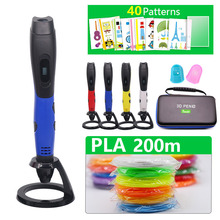 New Arrival 3D Pen 3d printing Pen Add 50/100/200 meter PLA Material Drawing Pen 3D Model For Christmas gift Children Best Gifts стоимость