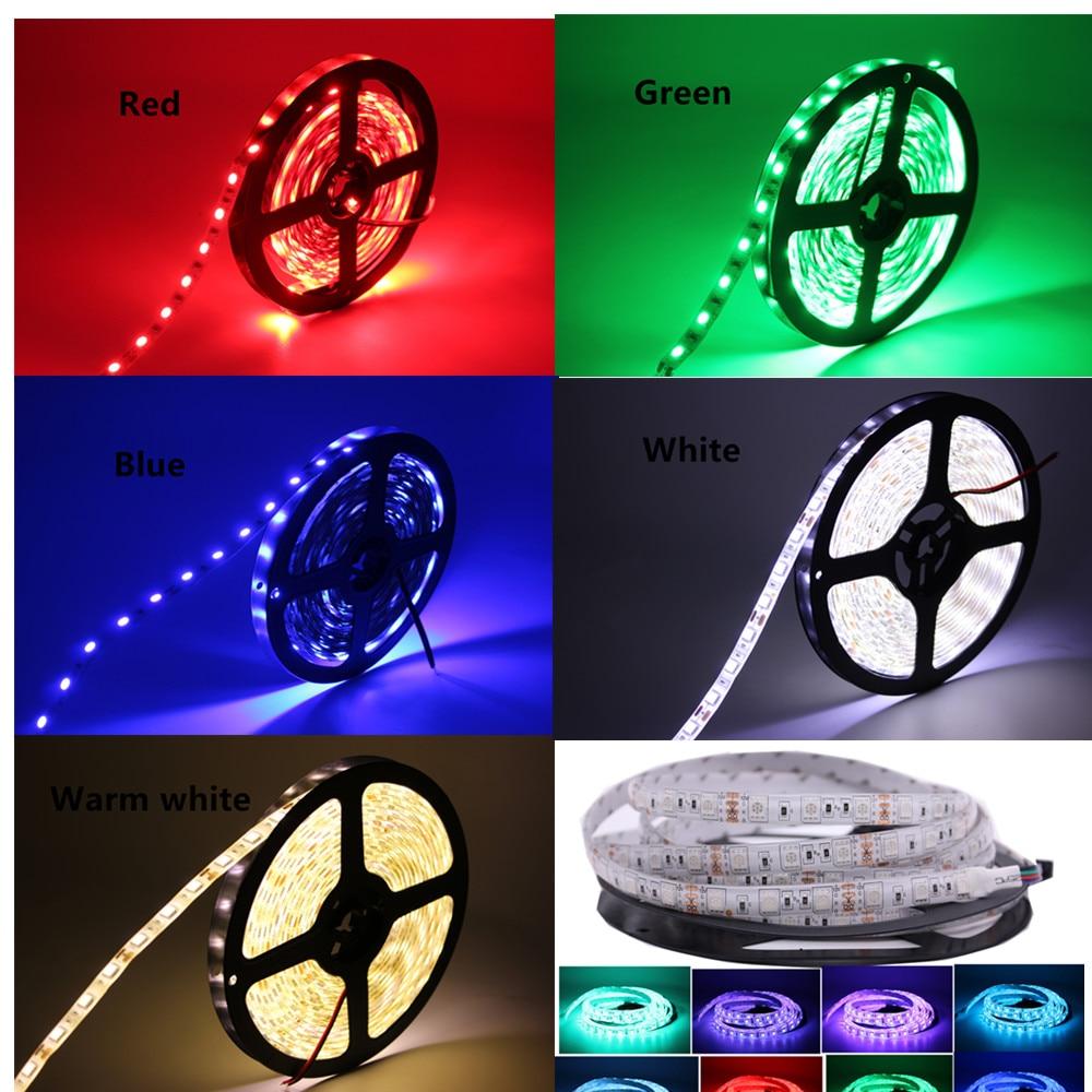 HTB1EgsTaPfguuRjy1zeq6z0KFXaJ SMD 5050 RGB LED Strip Waterproof 5M 300LED DC 12V 24V CCT RGBCCT  RGBW RGBWW WHITE WARM WHITE Fita LED Light Strips Flexible