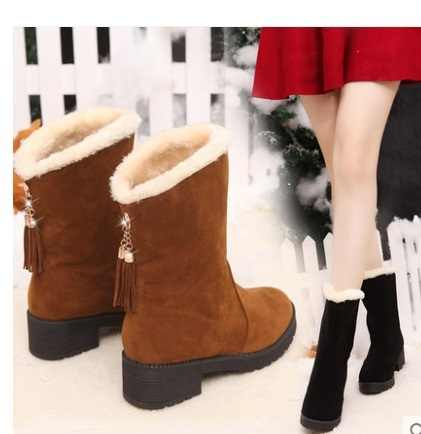 2018Winter Women Boots Mid-Calf Down Boots High Bota Waterproof Ladies Snow Winter Shoes Woman Plush Insole Botas Mujer Invierno