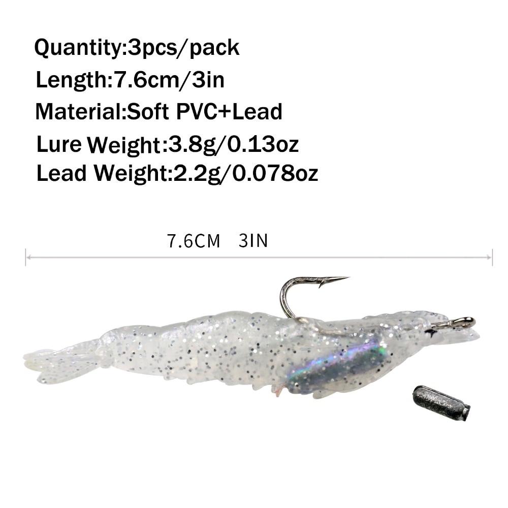 3 հատ 6 գ 7,6 սմ լուսավոր փայլ, փափուկ - Ձկնորսություն - Լուսանկար 5