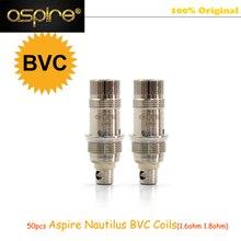 50pcs Original Aspire Nautilus Coils 1.6ohm/1.8ohm Bottom Vertical Coil Heads Suitable for Nautilus Mini Atomizer 50pieces/pack