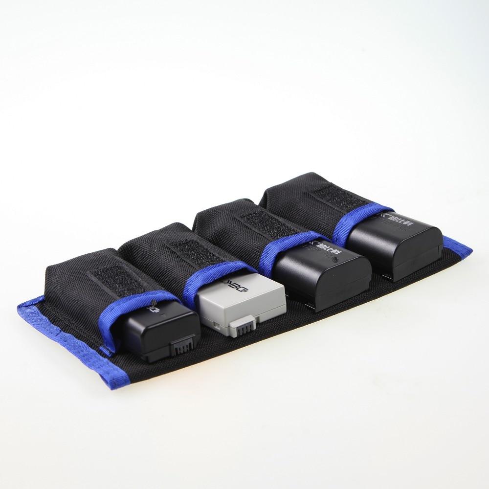 все цены на Meking Lithium Battery Storage Pouch for Canon LP-E6 LP-E8 Sony NP-FW50 EN-EL14 EN-EL15 4 Pockets Waterproofed Nylon Bag