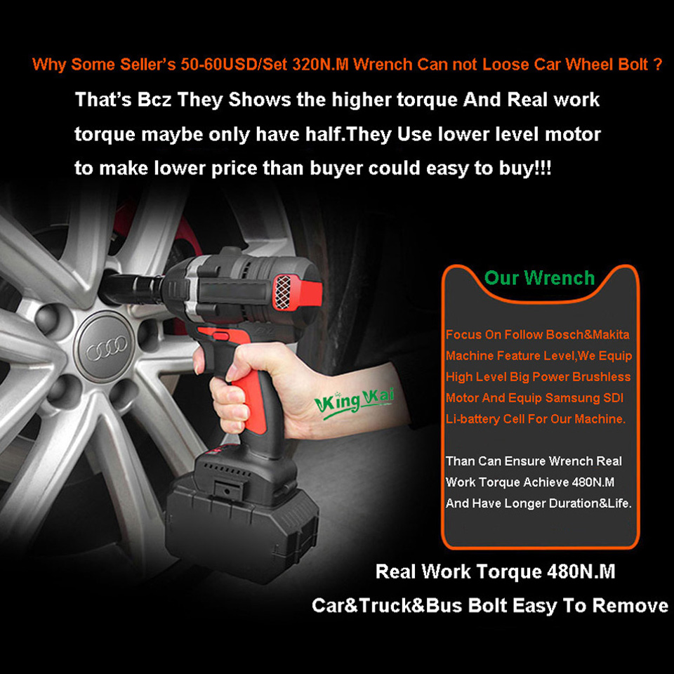 480NM Electric Cordless Lithium Battery Brushless Motor Impact Wrench-0 (2)