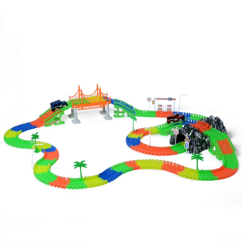 Railway-Magical-mini-road-slot-stunt-railroad-luminous-flexible-glowing-race-track-childrens-cars-racing-tracks-toys-for-boys-2