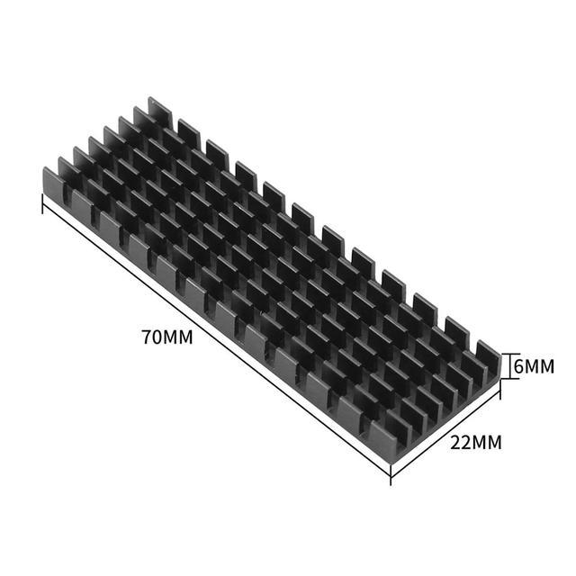 Heatsink Heat Dissipation Radiator M.2 NGFF Cooling Heat Sink Heat Thermal Pads for M.2 NGFF 2280 PCI-E NVME SSD 4