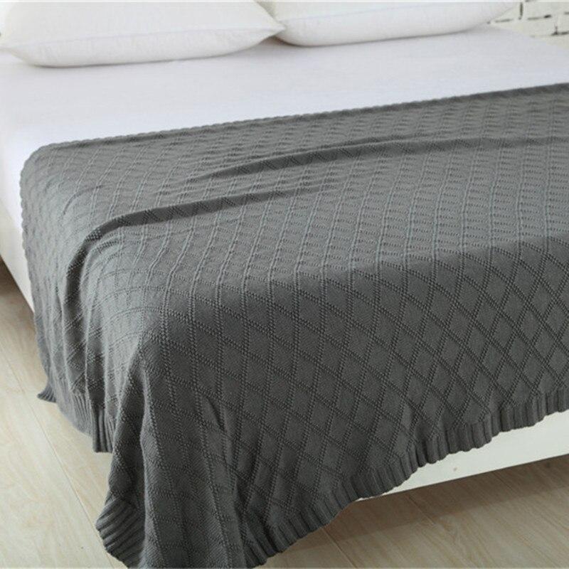 Zhulu 100% cotton fashion high quality knitted blanket adult blanket Spring Autumn Sofa Blanket Thread Blanket 180x200cm