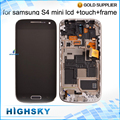 For Samsung Galaxy S4 mini LCD Display i9190 With Touch Screen Digitizer With Frame Assembly 1 Piece Free Shipping New Tested