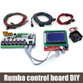 BIQU Rumba control board DIY+LCD 12864 controller display +jumper wire +DRV8825 Stepper motor driver for reprap 3D printer