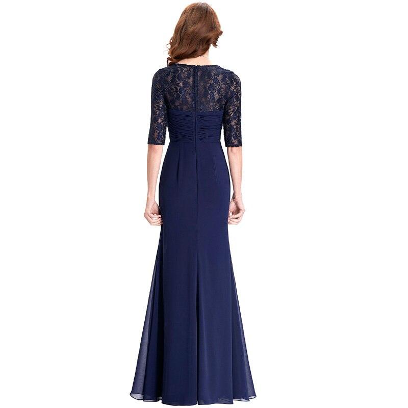 Navy Blue 2018 Mother of the Bride Dresses Lace Dress Elegant Half Sleeve  Chiffon Ruffles Evening Dresses Mother Bride Gown 0136-in Mother of the  Bride ... 8e195bdf0026