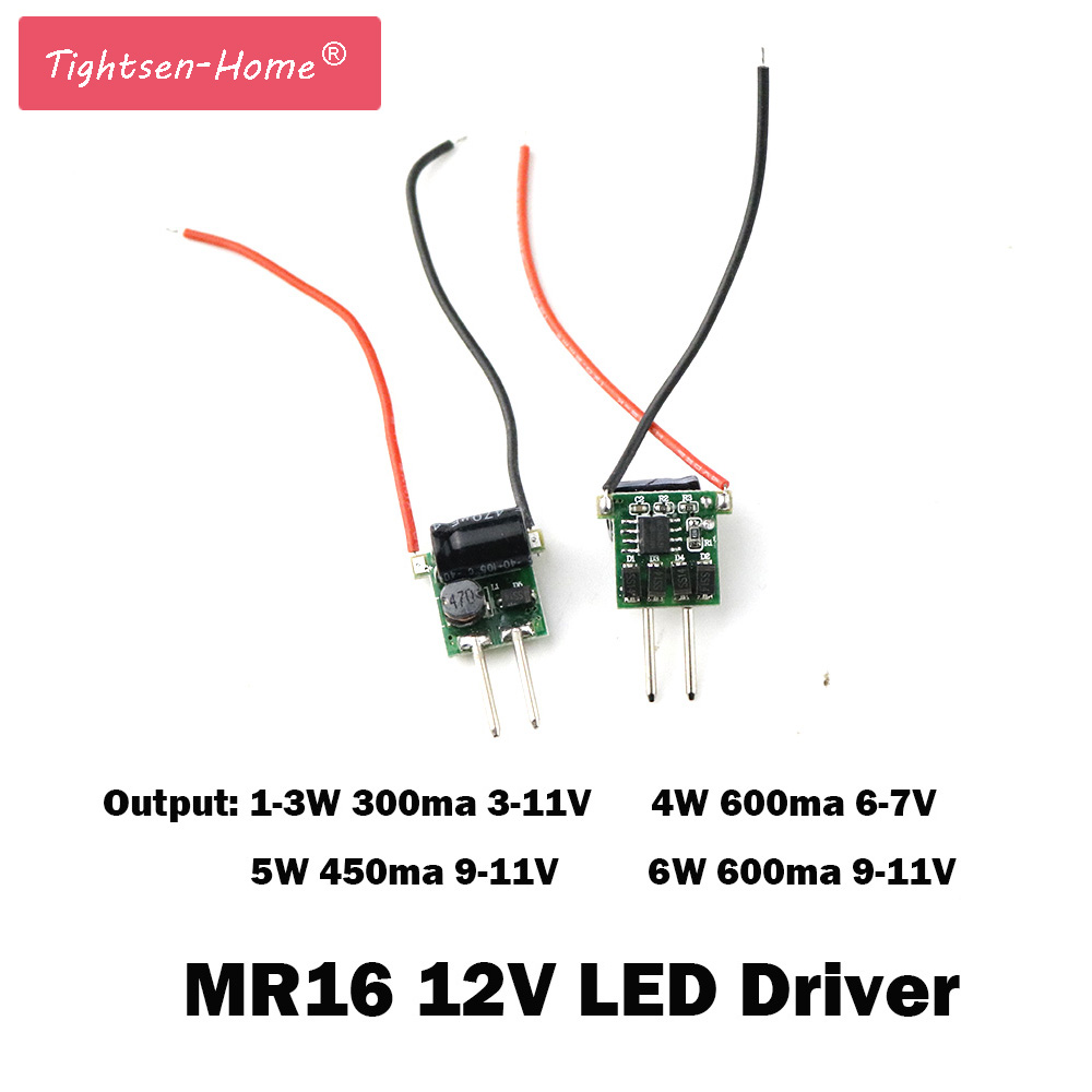5PCS MR16 12V LED Driver Low Voltage Constant Current LED 2 feet 300mA / 450mA / 600mA 1W 3W 4W 5W 6W Power Supply Transformer 10pcs 3x3w led mr16 driver 3 3w transformer power supply for mr16 12v lamp power 3pcs 3w led high power lamp led free ship page 7