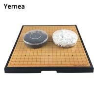 Children Go Game portable folding go game large magnet magnetic disks children Go Go Set plastic chess board Chess game Yernea