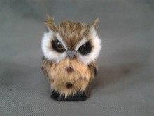 simulation owl 9×7 cm model toy polyethylene & furs mini owl model ,home decoration gift t225
