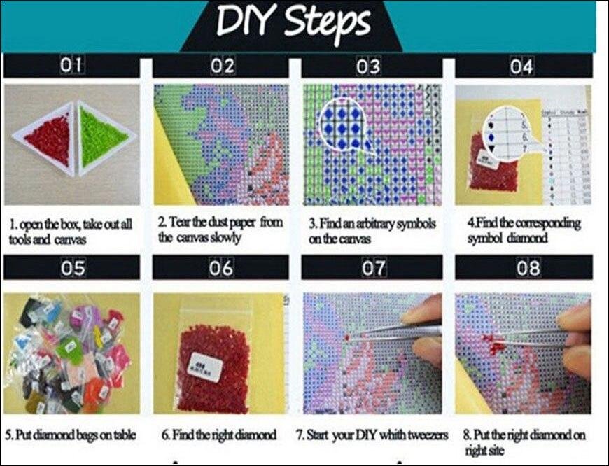 5d DIY diamante pintura 5 unids Cruz kit alces animales nieve ...